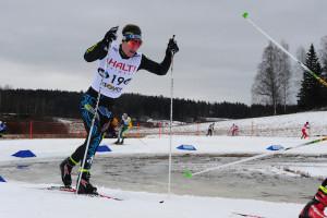 Pohdin hiihtäjiä Suomi cup:ssa Vantaalla.
